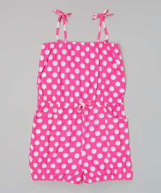 Pink Polka Dot Cover-Up - Girls