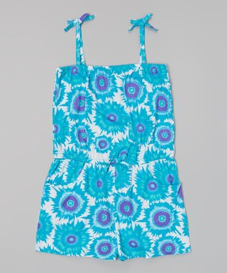 Blue Tie-Dye Cover-Up - Girls