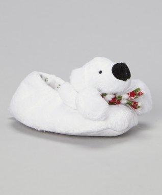 Ameta White Polar Bear Slippers
