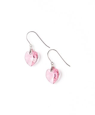Rose Heart Drop Earrings Made With SWAROVSKI ELEMENTS