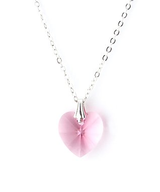 Rose Heart Pendant Necklace Made With SWAROVSKI ELEMENTS