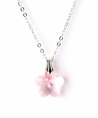 Pink Floral Pendant Necklace Made With SWAROVSKI ELEMENTS