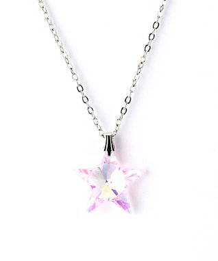 Pink Star Pendant Necklace Made With SWAROVSKI ELEMENTS