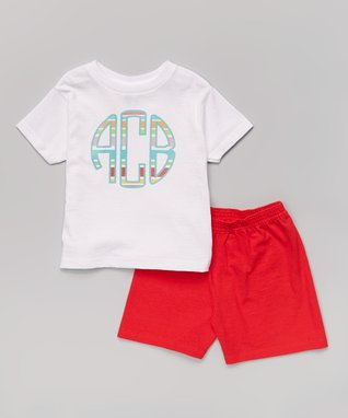 Red Sailor Owl Personalized Tee & Navy Shorts - Toddler & Boys