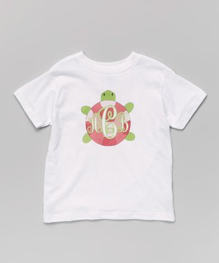 White Turtle Personalized Tee - Infant, Toddler & Boys