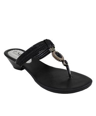 Agape Black Hasue Sandal
