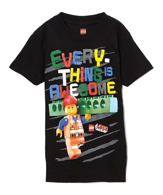 Black 'Everything is Awesome' LEGO Movie Tee - Boys