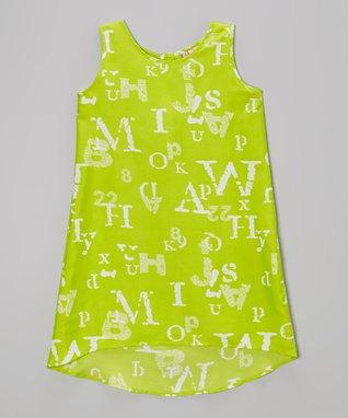 Apollo Black & White Alphabet Dress - Girls