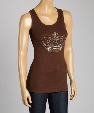 Black & Silver Rhinestone Crown Long-Sleeve Top