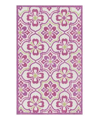 zulily-Exclusive Purple & Green Zoey Rug