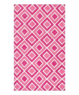 zulily-Exclusive Pink Diamonds Zoey Rug