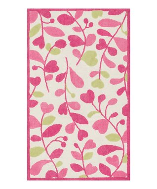 zulily-Exclusive Pink & Green Zoey Rug