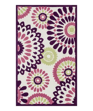 zulily-Exclusive Pink Leaves Zoey Rug