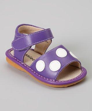 afed010583 Laniecakes Purple   White Polka Dot Squeaker Sandal