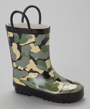 Joseph Allen Black Camo Rain Boot