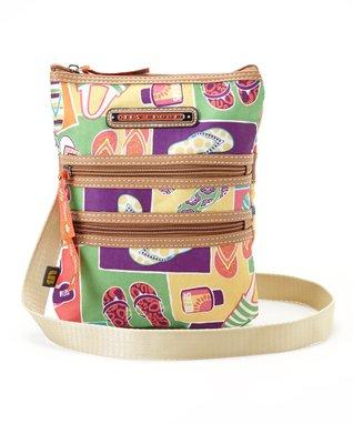 Lily Bloom Flip Flops Multi Section Crossbody Bag