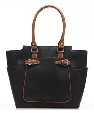 emilie m. Peach Ostrich Nicole Shoulder Bag