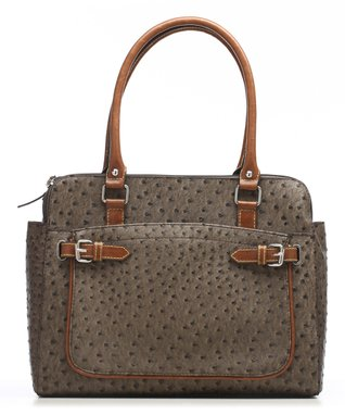 Nino Bossi Handbags Black Laced Leather Crossbody Bag