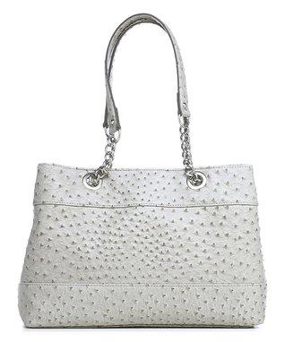 emilie m. Gray Nicole Ostrich Shoulder Bag