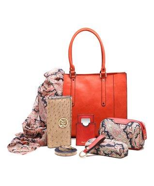 emilie m. Peach Ostrich Nicole Shoulder & Essentials