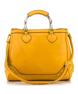 MKF Collection Brown Twister Shoulder Bag