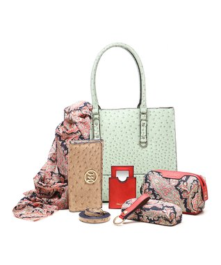 emilie m. Yellow Ostrich Kimberly Tote & Essentials Set