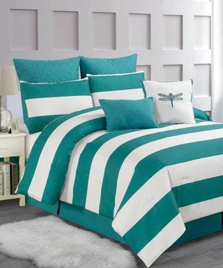 Red Orchidea Reversible Overfilled Comforter Set