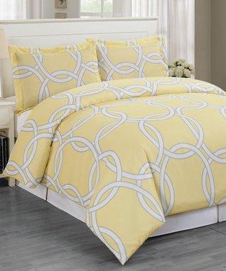 Teal Stripe Delia Dragonfly Comforter Set