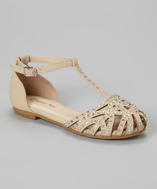 Beige Corner Sandal