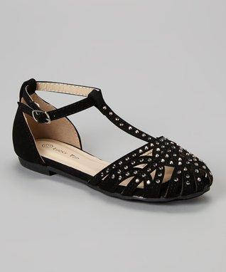 Black Corner Sandal