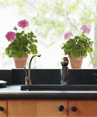 Pink Geranium Window Decal