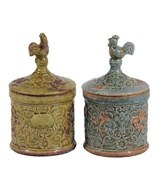 Rooster Ceramic Jar Set