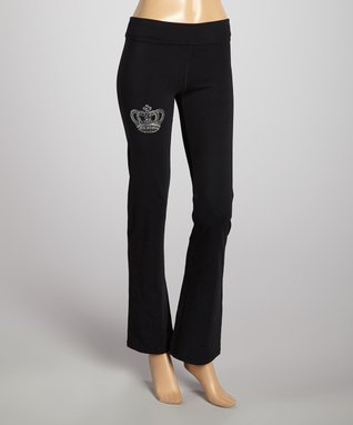 Black Crown Soft Pants