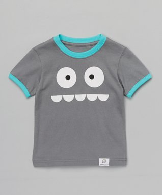 Doodle Pants Gray & Blue Silly Monster Tee - Infant & Toddler