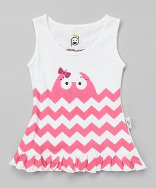 Doodle Pants White & Pink Whale Ruffle Dress - Infant & Toddler