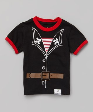Doodle Pants Black & Red Pirate Tee - Infant & Toddler