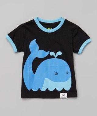 Doodle Pants Black & Blue Whale Tee - Infant & Toddler