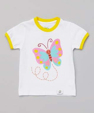 Doodle Pants White & Black Mustache & Monocle Ruffle Dress - Infant & Toddler