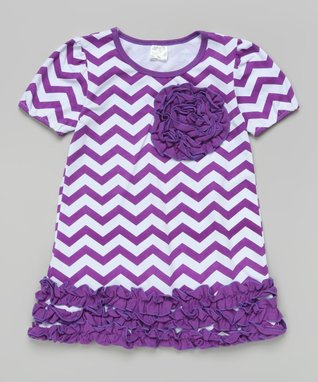 Hot Pink & Black Ruffle Rosette Dress - Toddler & Girls