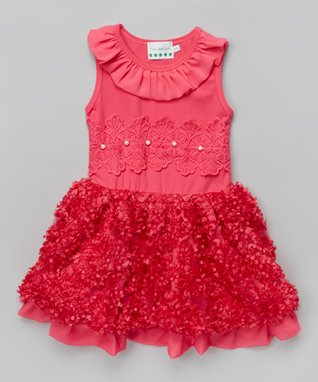 Pink Bow Pearl Ruffle Top - Infant, Toddler & Girls