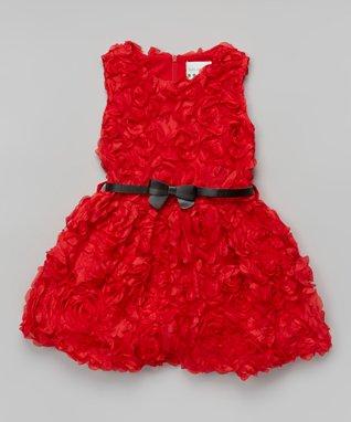 Rosette Bow Dress - Toddler & Girls
