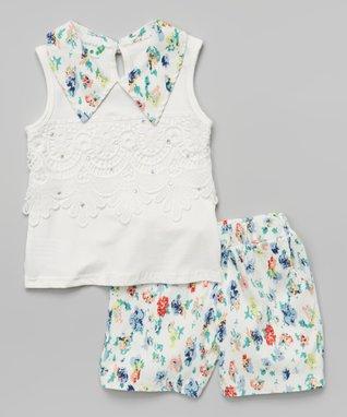 Black Rosette Pearl A-Line Dress - Toddler & Girls