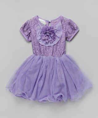White Rosette Pearl A-Line Dress - Toddler & Girls