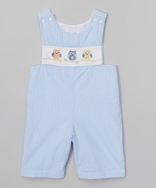 Light Blue Cupcake Shortalls - Toddler