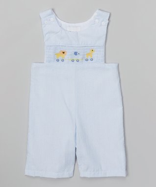 Light Blue Stripe Animal John Johns - Toddler