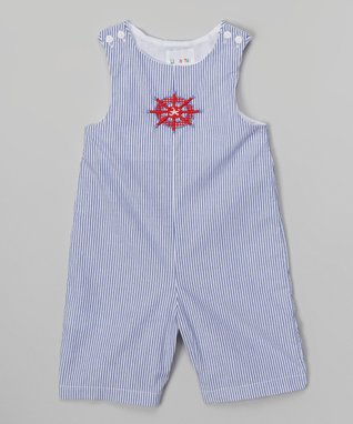 Blue Stripe Helm Shortalls - Infant & Toddler