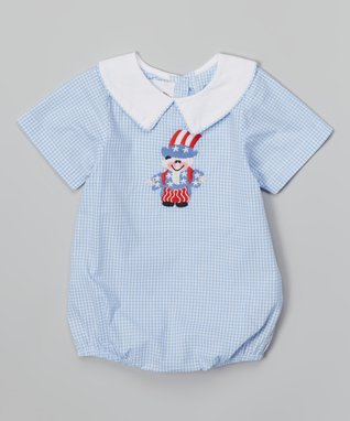 Blue Gingham Uncle Sam Bubble Bodysuit - Infant & Toddler