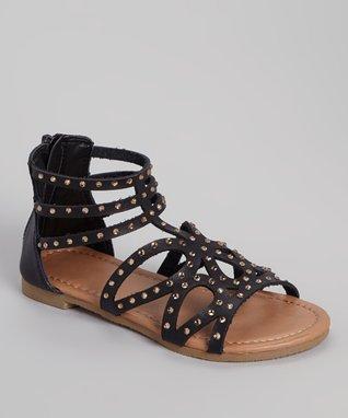 Black Gerri Gladiator Sandal