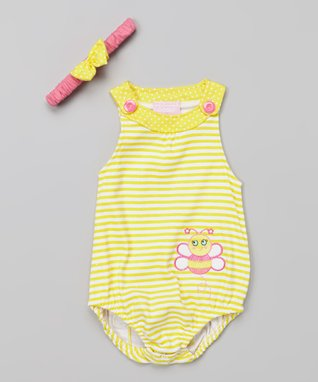 Duck Duck Goose Yellow Bumblebee Bodysuit & Headband - Infant