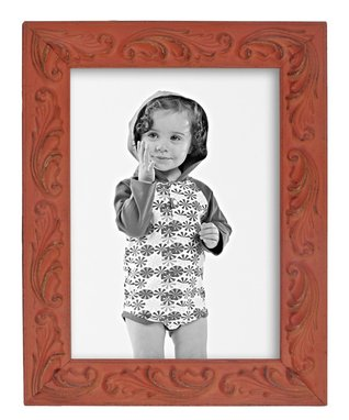 Coral Intentionally-Distressed Frame